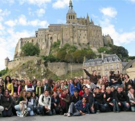 Students at Mont St Michel