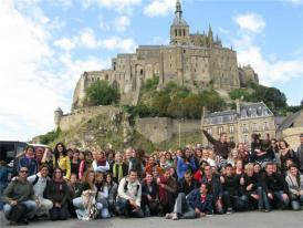 Students at Mont St. Michel